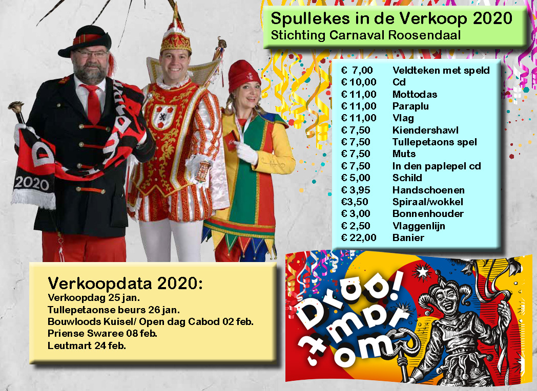 verkoop stichting carnaval roosendaal